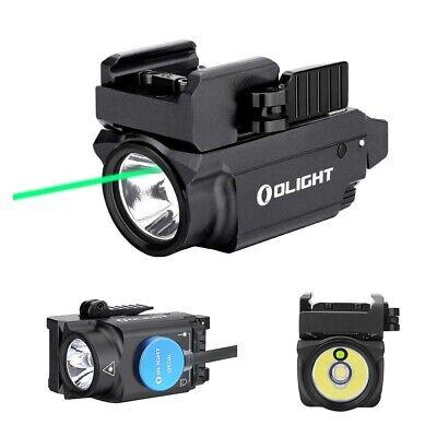 Olight Baldr Mini 600 Lumen Pistol Flashlight Green Laser Combo USB Rechargeable