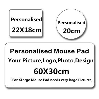 Custom Made Printed Personalized Mouse Pad Photo, logo, Large mouse mat Round B3 Custom Large Mouse Pad