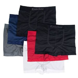 6pk Men's Seamless Athletic Compression Boxer Briefs Shorts Underwear One Size