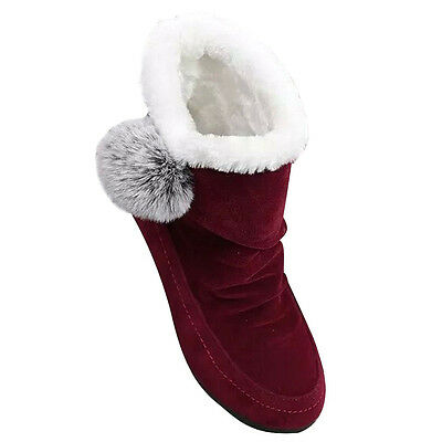 Fashion Women Ankle Boots Winter Shoes Warm Suede Flats Casual Shoes  USPS 4