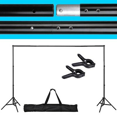 10 Ft Telescopic Background Backdrop Support Stand Crossbar System Photo Studio on Rummage