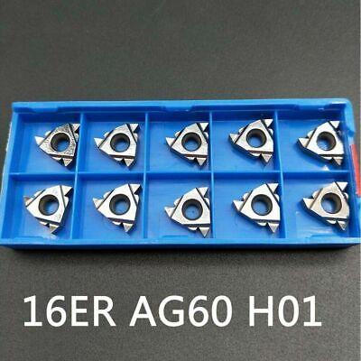 16er Ag60 H01 Threading Inserts Lathe Turning Carbide Insert 38 For Aluminum