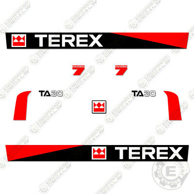 Terex Ta30 Decal Kit Articulated Dump Truck Decals Ta 30 - 7 Year Vinyl -