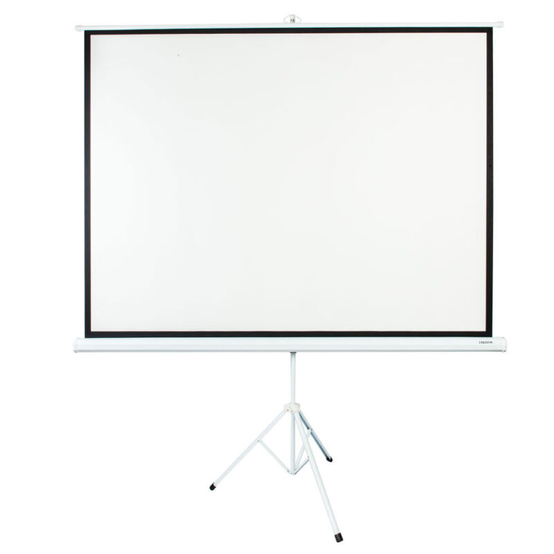 """Leadzm 100"""" Ratio 4:3 Projection Projector Screen Manual Pull Up Stand Tripod"""