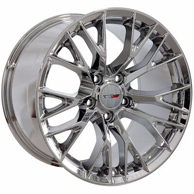 17x9.5 18x10.5 Chrome Corvette Stingray C7 Z06 Style Wheels Rims Fits Chevrolet for sale  Shipping to Canada