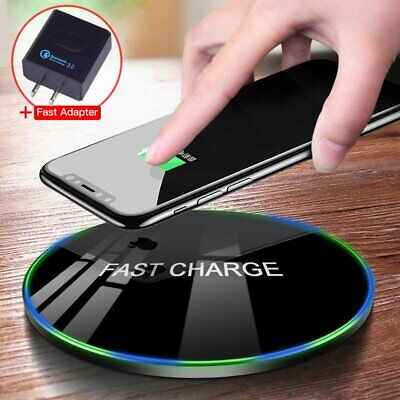 Fast Wireless Charger for Samsung Galaxy S10 S9 S8 Plus Note 9 8 S7 Mat Pad