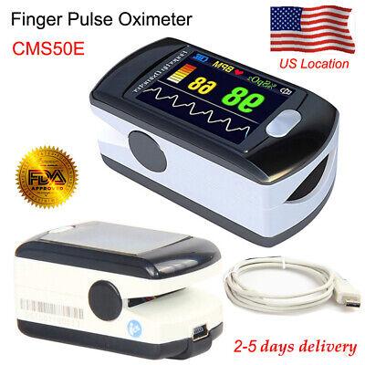 Contec Cms50e Handheld Oled Fingertip Pulse Oximeter Usb Blood Oxygen Spo2 Meter