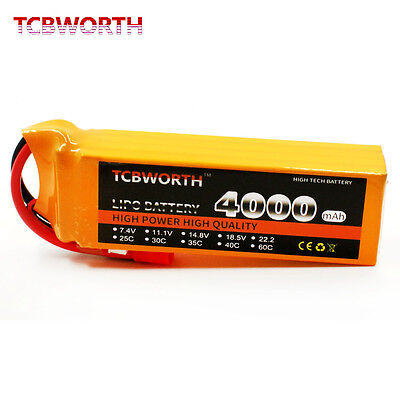 4S 14.8V 4000mAh 35C 40C RC Drone car LiPo battery Helicopte