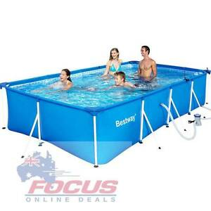 Bestway Steel Frame Above Ground Swimming Pool Blue Melbourne CBD Melbourne City Preview
