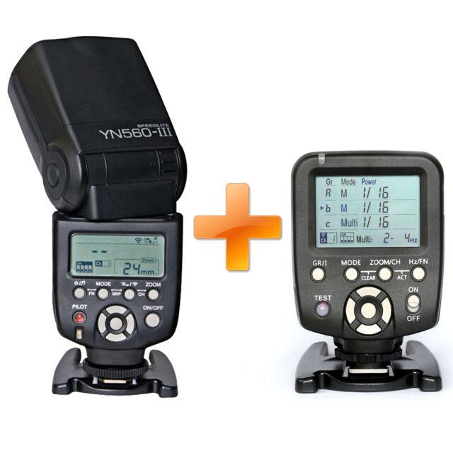 Yongnuo YN-560 III Aufsteckblitz Systemblitz mit Controller YN560TX-C für Canon