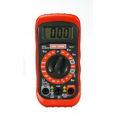 Craftsman 8 Function Digital 20 Range Multimeter Tool Acdc Electrician Amp Diode