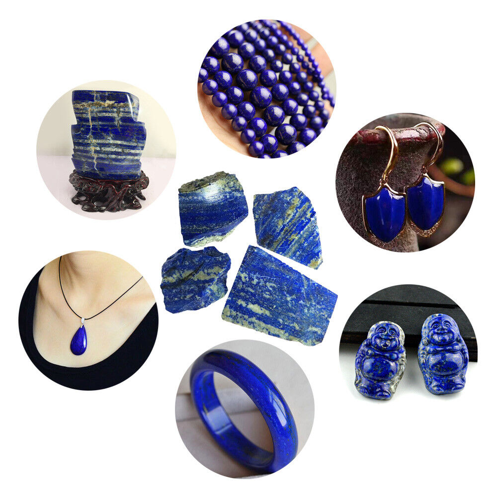 100g Natural Rough Afghanistan Lapis lazuli Crystal Raw Gemstone Mineral Stone