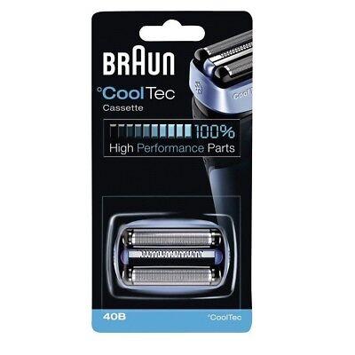 BRAUN 40B CoolTec Cassette Foil Cutter Mens Shaver Replacement Razor Blade ()