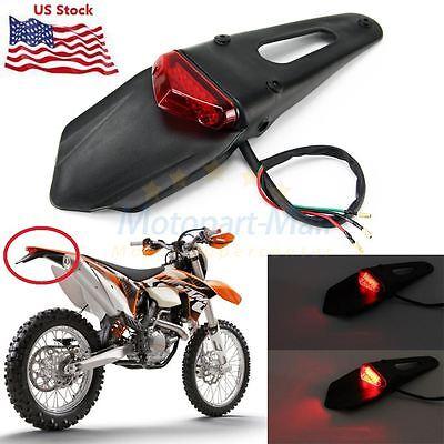 Dirt Bike Motorcycle Light 12 LED Rear Fender Brake Tail Light Off Road For KTM Dirt Bike Tail Light