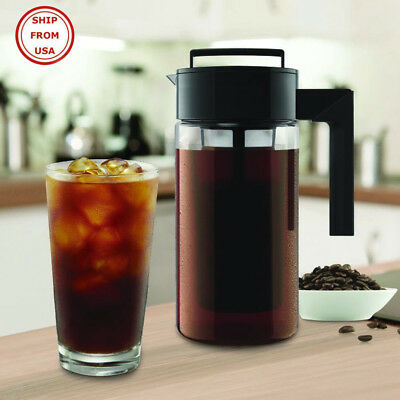 Cold Brew Iced Coffee Maker Airtight Seal Silicone Handle Co