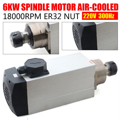 Cnc Woodworking 6kw Spindle Motor Air-cooling 220v Er32 300hz 18000rpm 4bearings