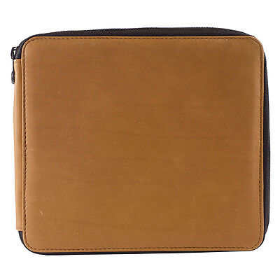Global : Leather Antique Brown Folding Colour Pencil Case Holds 96