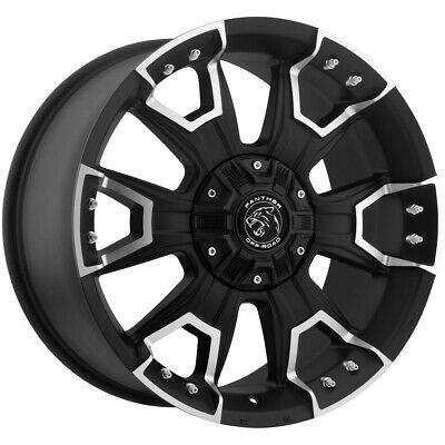 "4-Panther 904 17x9 6x135/6x5.5"" +12mm Black/Machined Wheels Rims 17"" Inch"