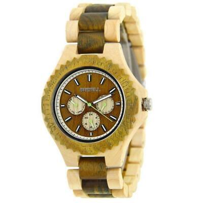BEWELL Luxury Wooden Watch Wood Natural Handmade Analog Quartz Men Wrist Watches