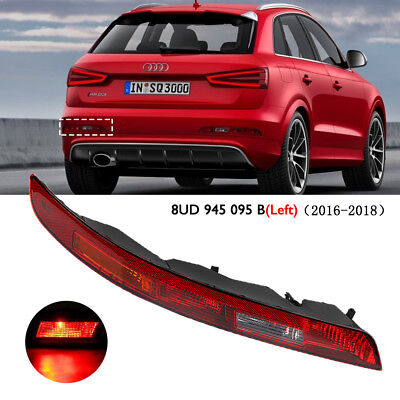 For Audi Q3 2016-2018 Rear Lower Bumper Reverse Stop Tail Light Lamp Red LH Side