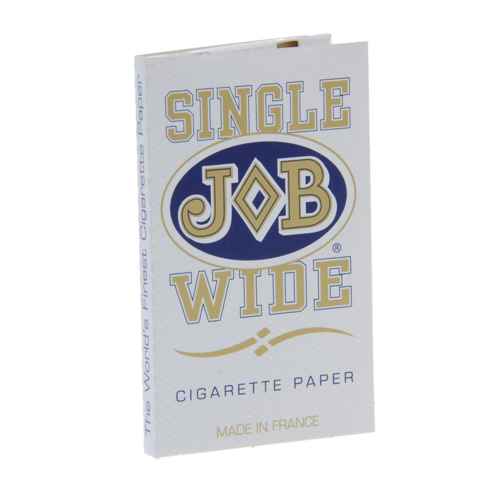 24x Packs JOB Single Wide White ( 24 Leaves / Papers Each Pack ) Rolling