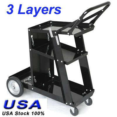 Welder Welding Cart Plasma Cutter Mig Tig Arc Universal Storage For Tanks Handle