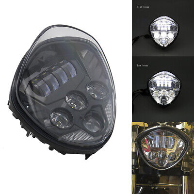 Motorcycle BLACK LED Headlight For Victory Magnum Hammer Vegas