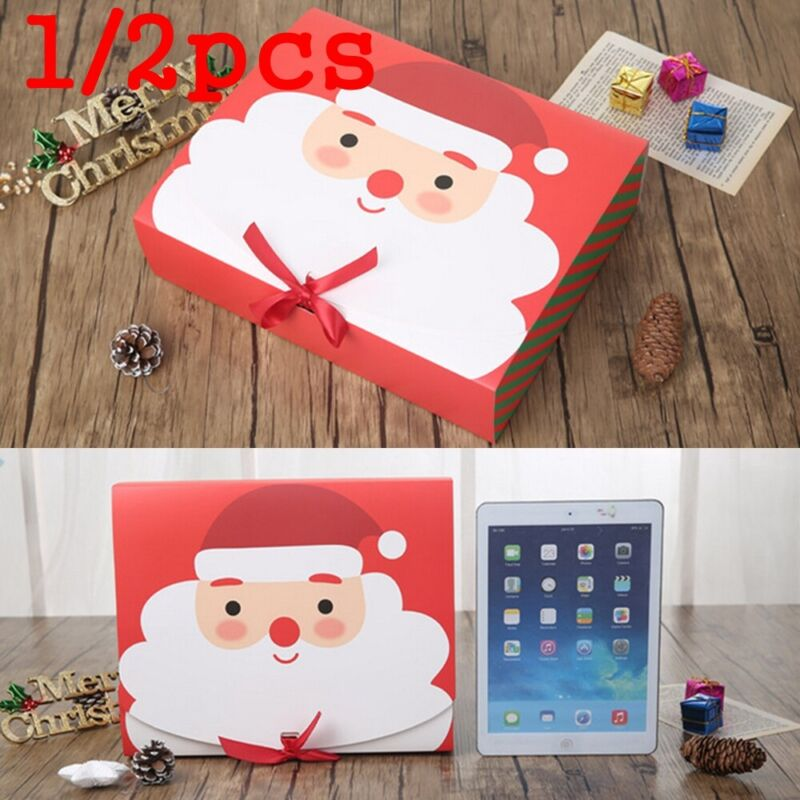 Xmas Christmas Eve Gift Box Favour Present Gifts Party Wrapping Bags Candy Boxes