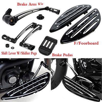 Front Floorboard Kit (Shift Lever Brake Arm Kit & Front Floorboard & Brake Pedal For Harley)
