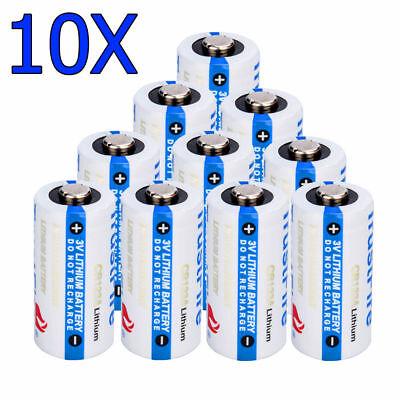 10x CR123A 1400mAh Li-ion CR123 Single Use Batteries Battery for Security Camera ()