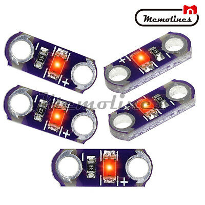 5pcslot Lilypad Light Red Smd Led Kit Diy 3v-5v Module