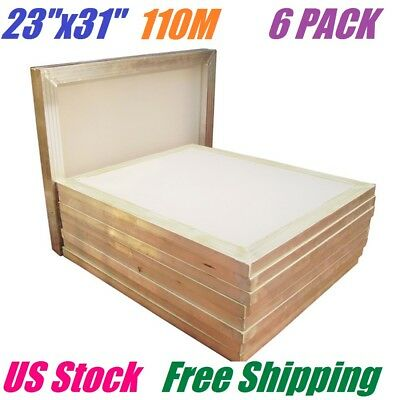 6 Pack 23 X 31 Aluminum Frame Silk Screen Printing Screens 110 White Mesh