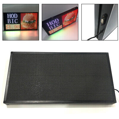 27x 14 Full Color Video P5 Led Sign Programmable Scrolling Message Display Usa