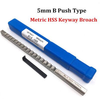 Metric Keyway Broach 5mm B Push Type Cutter Shim Involute Spline Cutting Tool