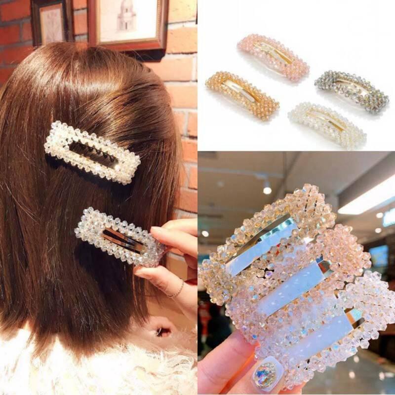 Fashion Korean Simple Crystal BB Hair Clips Women Hair Accessory Hairpins