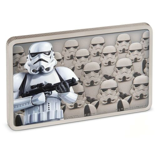STORMTROOPER STAR WARS GUARDS OF THE EMPIRE 2020 1 oz Fine Silver Antiqued Coin
