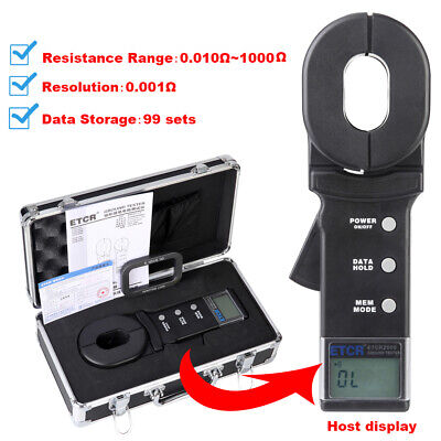 Etcr2000 Clamp Earth Resistance Tester Gauge 0.01 To1000 Digital Clamp Meter