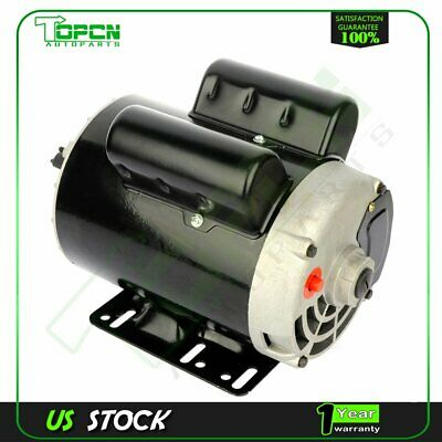 3 Hp Spl Air Compressor Electric Motor 56 Frame 3450 Rpm Single Phase 58shaft