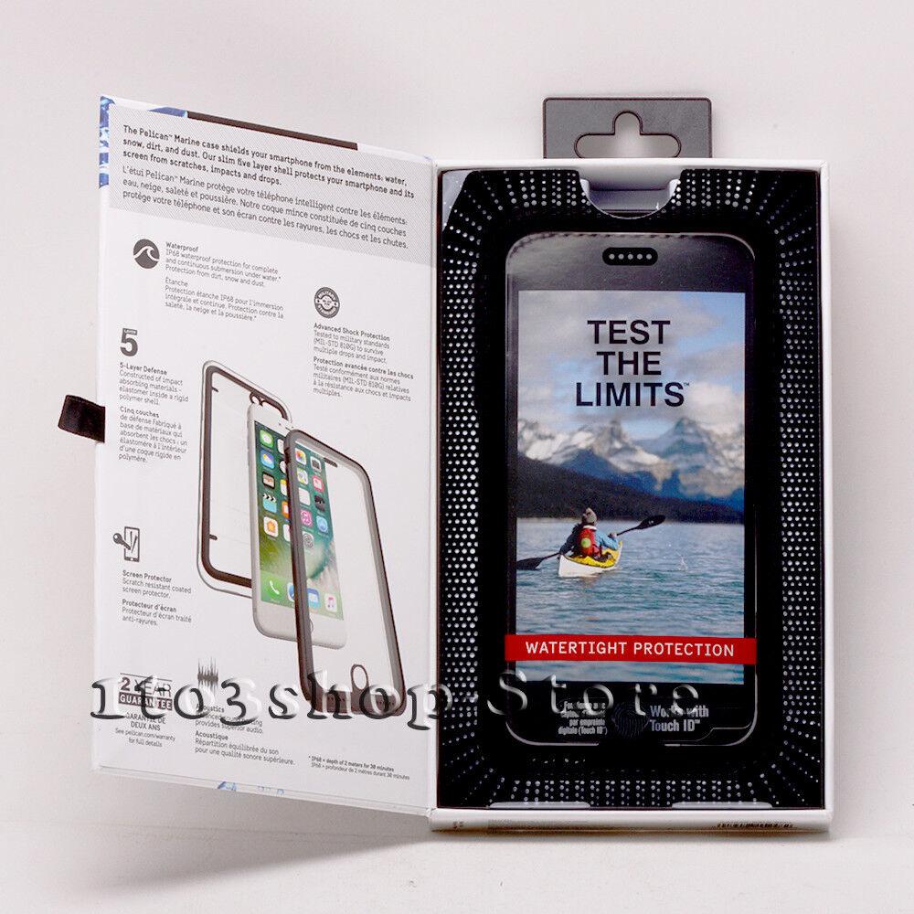 Pelican Marine iPhone 7 Plus iPhone 8 Plus Waterproof Hard Case Black/Clear NEW