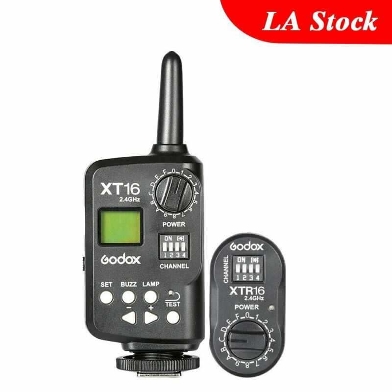Godox XT-16 2.4G Wireless Transmitter Receiver SK400 DE300 Studio Strobe Flash