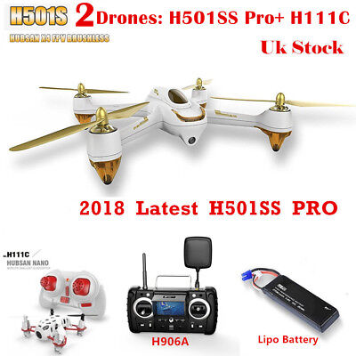 HUBSAN H501S X4 FPV DRONE W/ GPS 1080P Headless Follow Me RTH, PRO Edition RTF