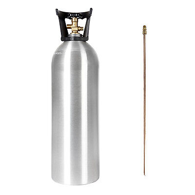 20 Lb New Aluminum Co2 Tank With Siphon Tube - Cga 320 Valve - Free Shipping