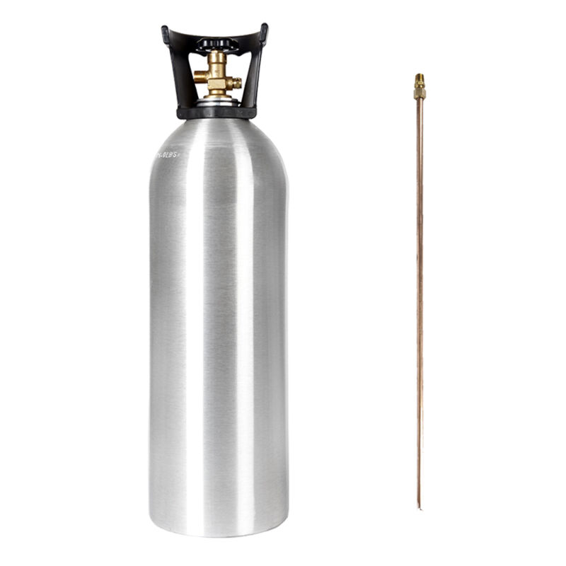 20 lb New Aluminum CO2 Cylinder With SIPHON TUBE - CGA320 Valve - Free Shipping!