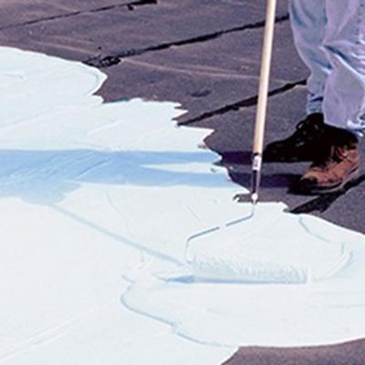 Elastomeric Roof Coating 5 Gal Uv Protection Liquid Rubber Cooling Paintwhite