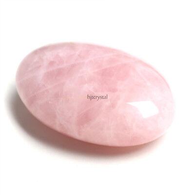 Shape Rose (Chakra Palm Tumbled Stones Pink Rose quartz Crystal Healing Smooth Soap)
