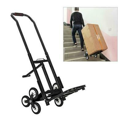 Stair Climbing Hand Truck Trolley Dolly Wheels Climber Folding Shopping Cart Us