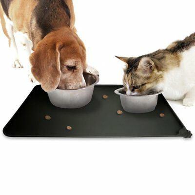 Silicone Pet Feeding Mat Non Slip Dog Cat Bowl Placemat Waterproof 48.5 x 30 CM