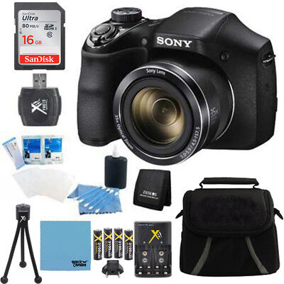 Sony Cyber Shot Dsc H300 Digital Camera Black 16Gb Kit