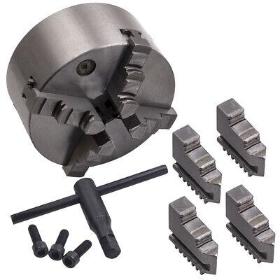 4 Jaw Self-centering Lathe Chuck 5 Inch Milling Hardened Steel K12-125 Silver
