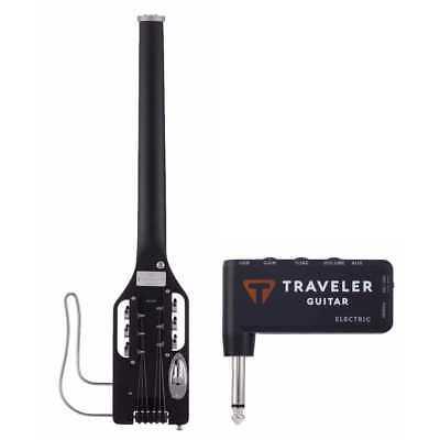 Traveler Ultralight Travel Guitar - Traveler Guitar Ultra-Light Electric Black Travel Guitar, Gig Bag and Mini Amp